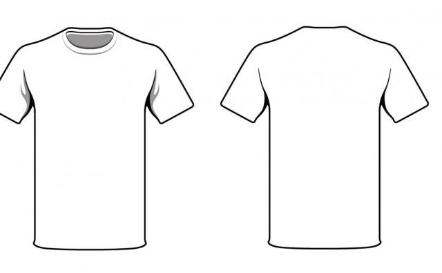White T-Shirt Design Template.